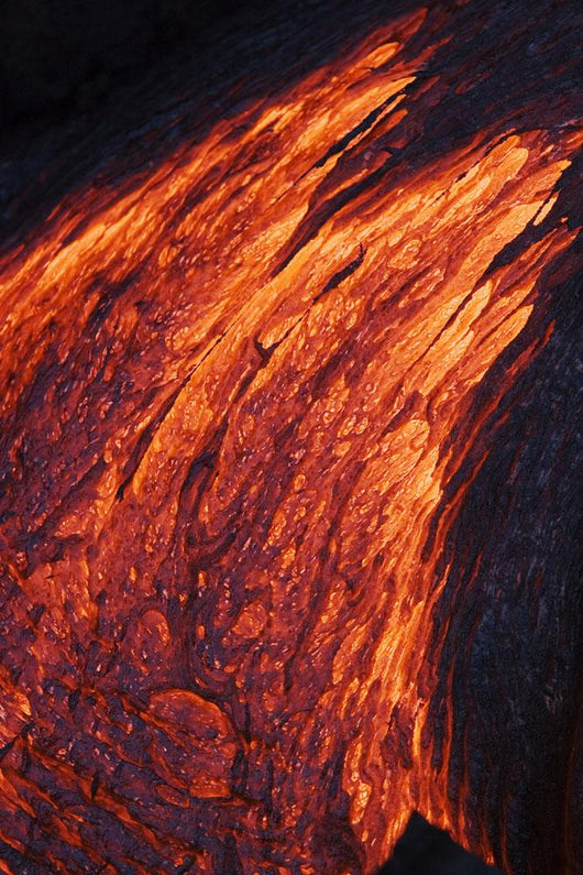 Detail Of Molten Pahoehoe Lava Flowing Downward Wall Mural