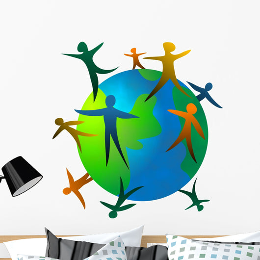 world people Wall Decal