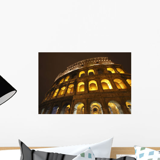 Night Lights Of The Colosseum Wall Mural