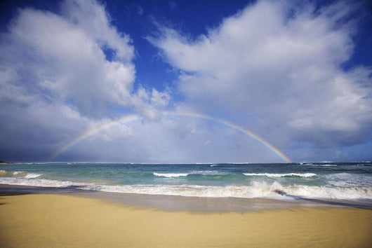 USA, Hawaii, Rainbow at Baldwin Beach Wall Mural