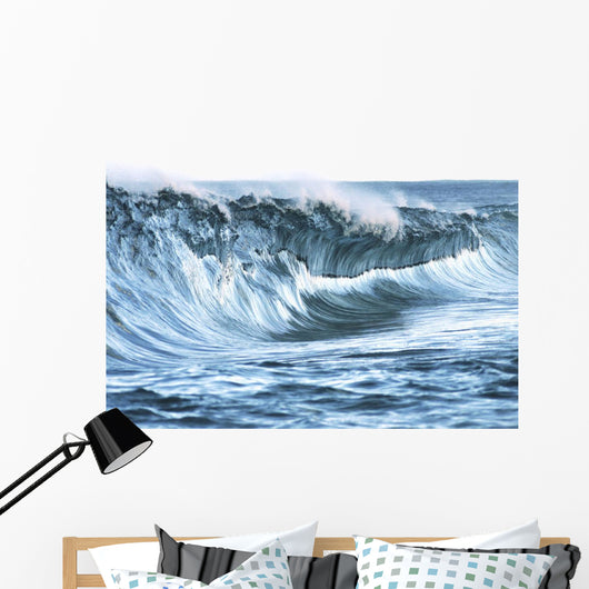 Beautiful Textures Surface Of A Shorebreak Wave About To Crash Wall Mural