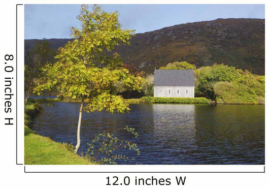 St Finbarre's Oratory On Shore Of Gougane Barra Lake Wall Mural