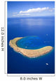 Hawaii, Maui, Molokini Crater, Aerial View Wall Mural