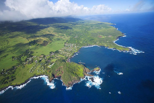 USA, Hawaii, Maui, Aerial view of town Wall Mural