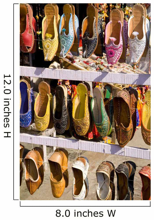 Shoes For Sale For Shopping In Downtown Center Of The Pink City Wall Mural