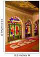 India, stained glass windows of fort palace Wall Mural