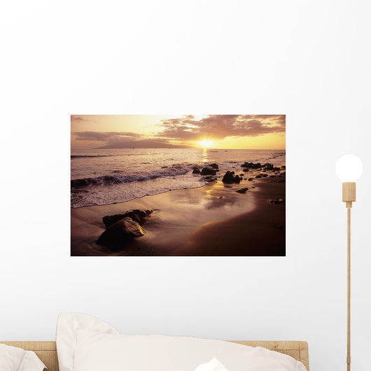 USA, Sunset over beach landscape Wall Mural