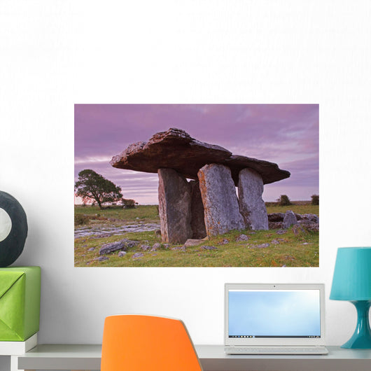 Poulnabrone Portal Dolmen In The Burren Region Wall Mural