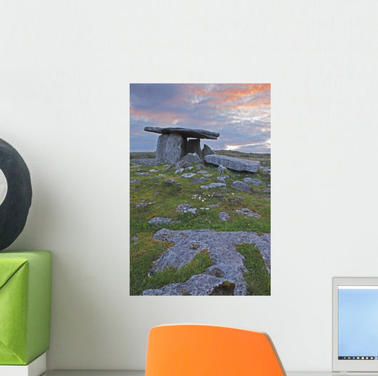 Poulnabrone Grave Site In The Burren Region Wall Mural