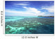 Fiji, View from ocean to Mana Island Wall Mural