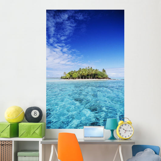 French Polynesia, Tahiti, Turquoise water and blue sky Wall Mural