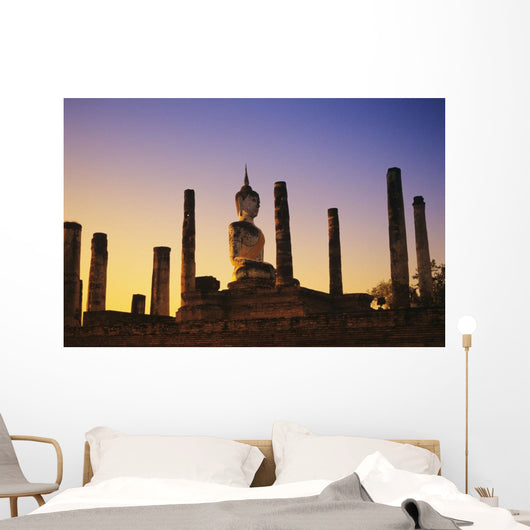 Blue And Orange Sky Wall Mural