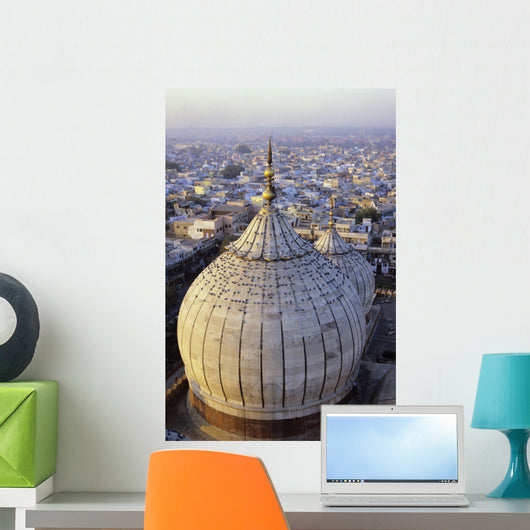 City Skyline In Distance Wall Mural