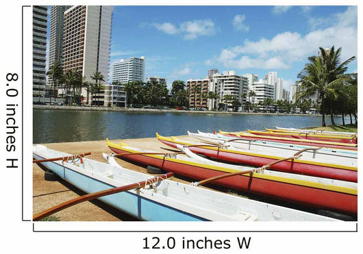 Waikiki Buildings Across The Water Wall Mural