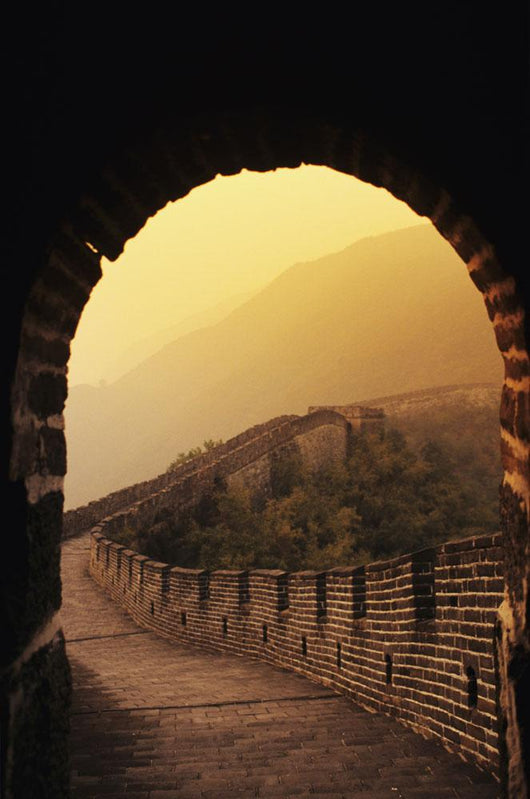 China, Great Wall Of China seen from inside tower Wall Mural