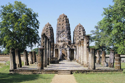 View of Sukhothai Khmer Sanctuary Ruins Wall Mural