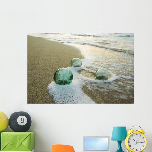 Three Glass Fishing Floats Roll Wall Mural