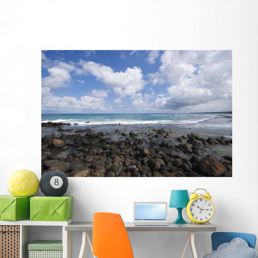 Gorgeous Blue Ocean And Cloudy Sky Wall Mural