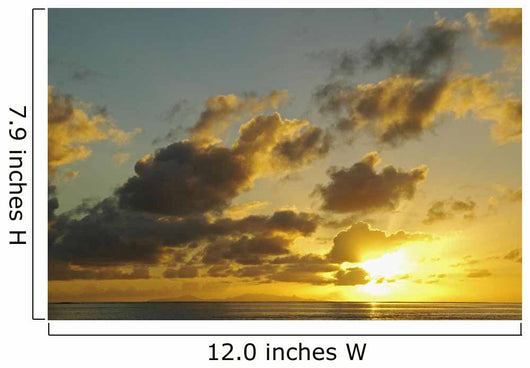Sun Shining Through Clouds Over The Ocean At Sunset Wall Mural
