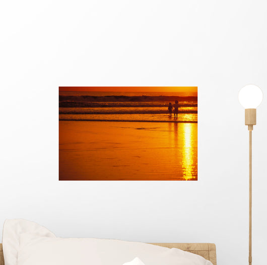 Orange Sky No Model Release Wall Mural