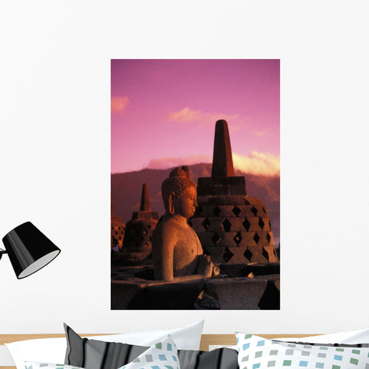 Pink Misty Sky Wall Mural