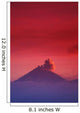 Indonesia, Overview Of Bromo Tengger Semeru National Park At Sunset Wall Mural