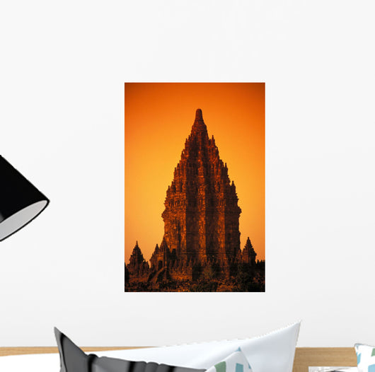 Shiva Mahadeva Temple Stone Architecture At Sunset Wall Mural
