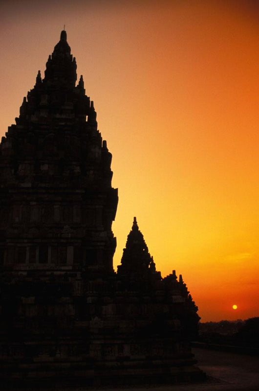 Shiva Mahadeva Temple Silhouetted At Sunset Wall Mural