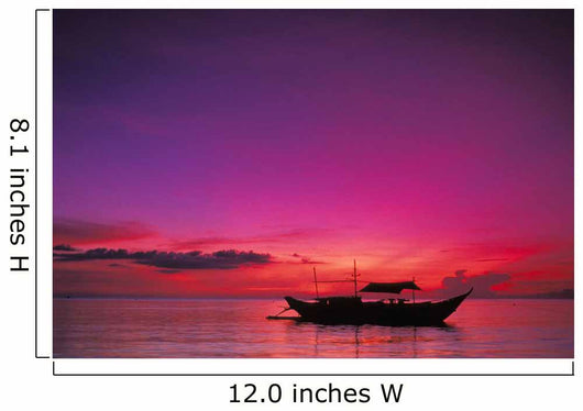 Purple Orange Sky Wall Mural
