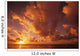 Hawaii, Kauai, Wailua, Sunrise Over The Ocean On A Cloudy Morning Wall Mural