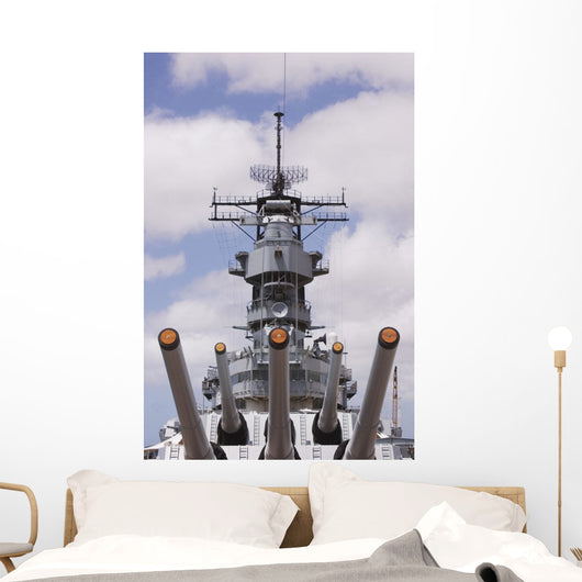 Hawaii, Oahu, Honolulu, Pearl Harbor, Uss Missouri, Wwii Battleship Wall Mural