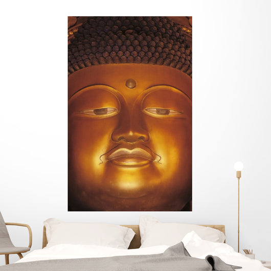 Close-Up Of Buddha Statue Wall Mural