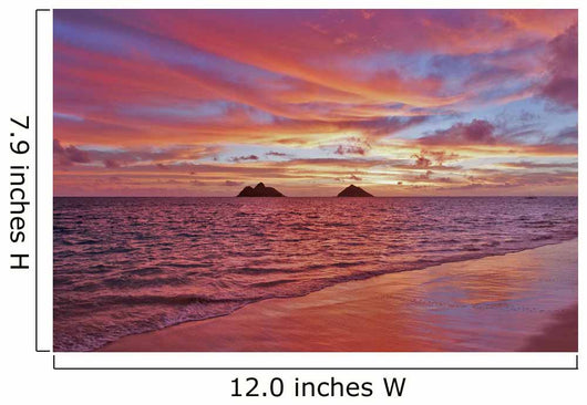 A Colorful Pink Sunrise Over The Mokulua Islands Wall Mural