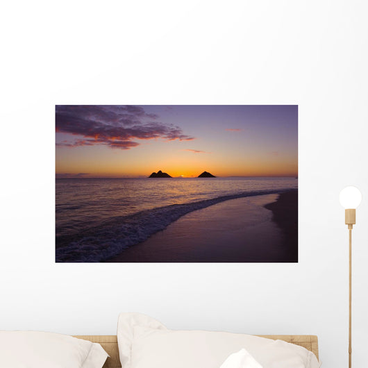 Sunrise With The Mokolua Islands In The Distance Wall Mural