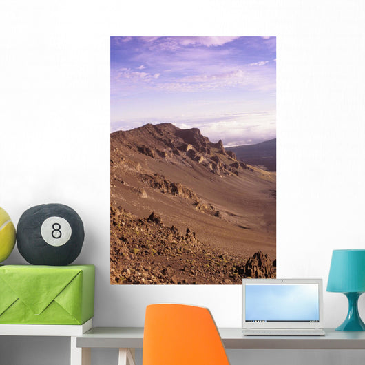 Hawaii, Maui, Western Rim Of Haleakala Crater Wall Mural