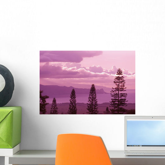 Pine Trees In Foreground Wall Mural