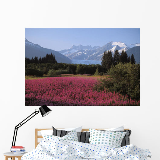Field Of Fireweed Wall Mural
