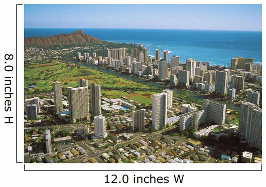 Waikiki And Golf Course Near Ocean Wall Mural