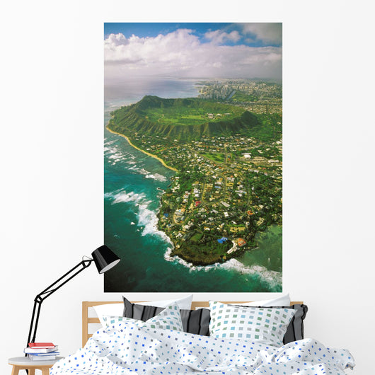 Waikiki Hotels Background Wall Mural
