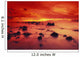 Lava Rock Beach At Sunset With Dramatic Red Yellow Sky And Shore Wall Mural