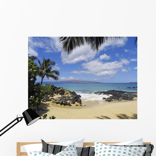 View From Secret Beach Of Kahoolawe And Molokini Islands Wall Mural