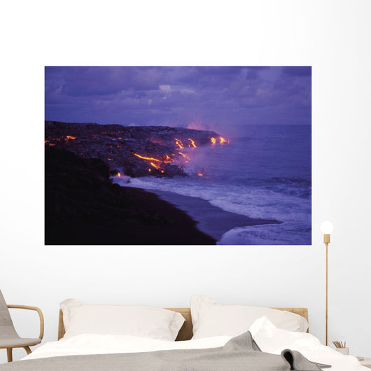Lava Action Meeting Sea Wall Mural