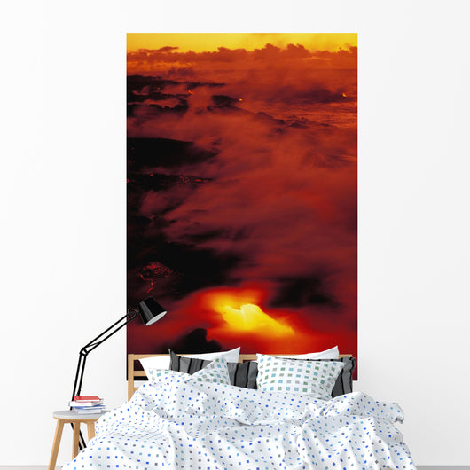 Dramatic Red And Yellow Wall Mural