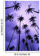 Coconut Palm Trees Silhouetted At Dawn Against Purple Sky Wall Mural