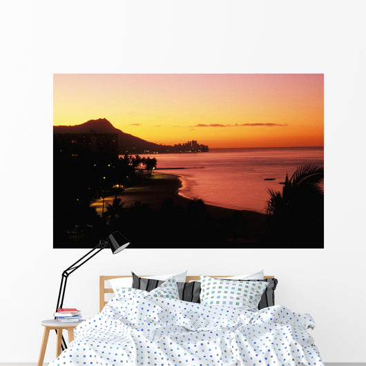 Orange And Pink Sky Wall Mural