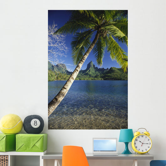 Scenic View Of Clear Bay And Palm Trees Wall Mural