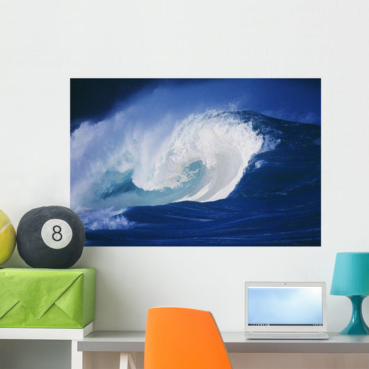 Hawaii, Powerful Wave, White Water Wall Mural