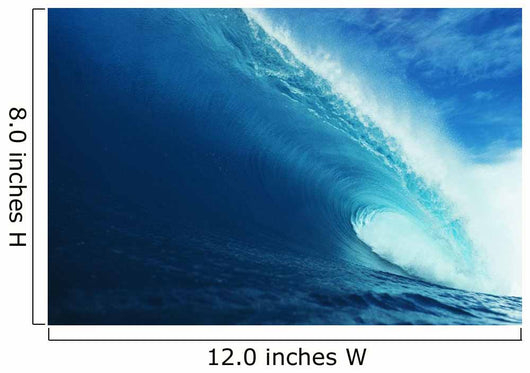Hawaii, Close-Up View Of Big Blue Tube, Sky And Clouds Wall Mural