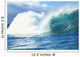 Large Green Wave Crahing, View From Side Wall Mural