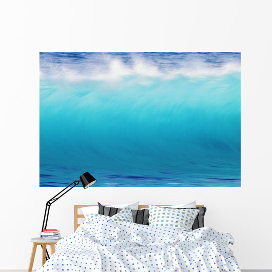 Blur Action Of Shoreline Waves Crashing Wall Mural